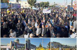 تصاویری از حضور پر شور مردم