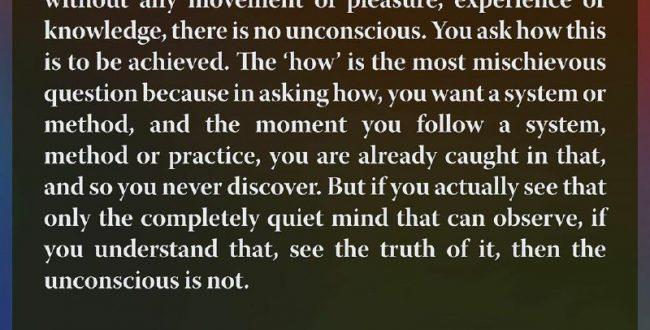 لحظهای که ذهن آگاه کاملا ساکت است…