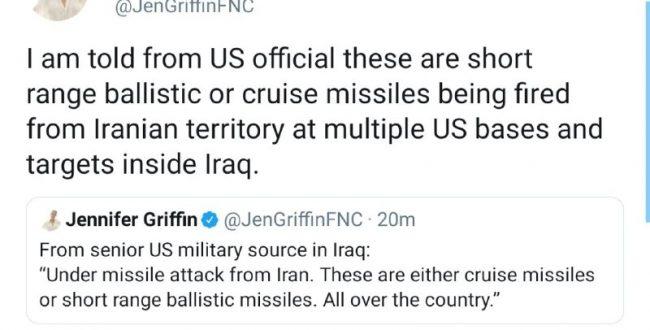 خبرنگار فاکسنیوز به نقل از منابع ارشد نظامی آمریکا میگوید