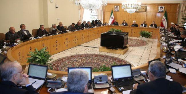 در جلسه هیات وزیران برای مقا