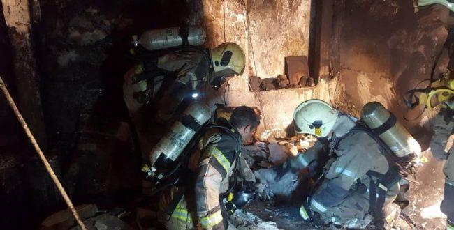 ️ آتش سوزی ساختمان قدیمی دو ط
