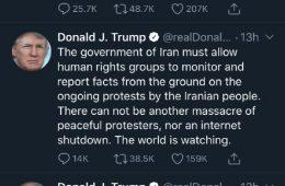 توئیت های فارسی پی در پی ترامپ