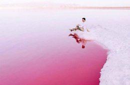 دریاچه ی صورتی در شیراز