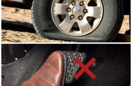 اگر تایر خودرویتان ترکید ترمز نکنید