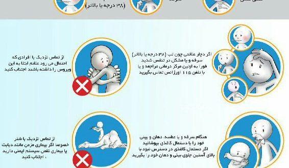 ویروس کرونا و علائم شایع و توصیه ها