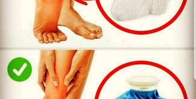 گرم کردن پای پیچ خورده اشتباه