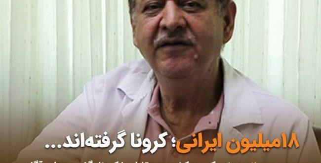 ۱۸ میلیون ایرانی کرونا گرفته