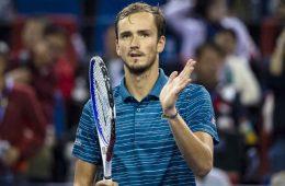 دنیل مدودف در دیدار پایانی تنیس مسترز شانگهای