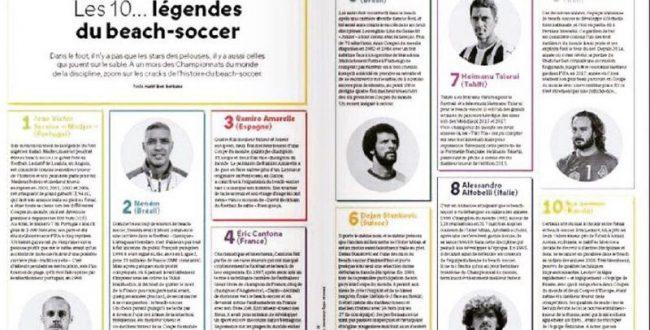 پیمان حسینی در میان ۱۰ اسطوره فوتبال ساحلی جهان