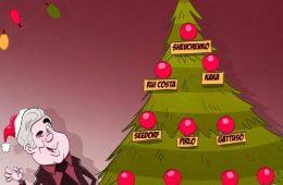 کاریکاتور درخت کریسمس مورد ع