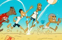 کاریکاتور از صحبت های جالب ژو